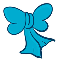 Clipart a blue bow or color vector