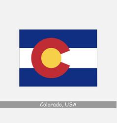 colorado flag vector image