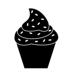 cupcake sweet dessert pictogram vector image