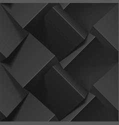 Dark abstract seamless geometric pattern vector