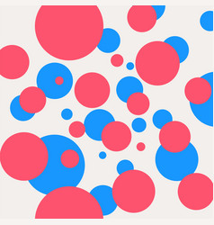 decorative pattern with blue and pink circles vector image