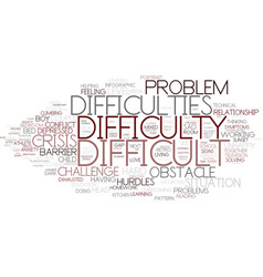 Difficulty word cloud concept vector