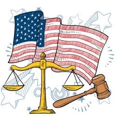 Doodle americana justice vector