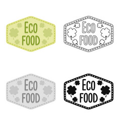 Eco-food icon in cartoon style isolated on white vector