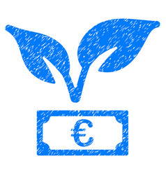 Euro startup sprout icon grunge watermark vector