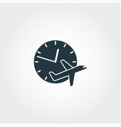flight delayed creative icon simple element vector image