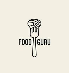 food guru logo vector image