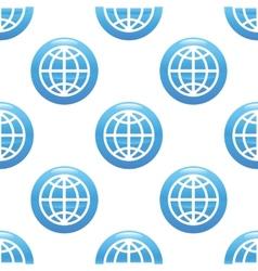 Globe sign pattern vector image