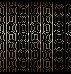 Golden seamless pattern with ovals and lines vector