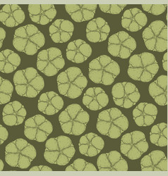 Graphic cotton pattern vector