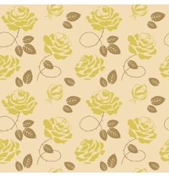 Green roses background seamless pattern vector image