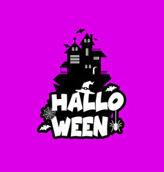 halloween design with typography and dark vector image