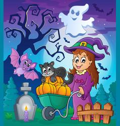 Halloween theme image 4 vector