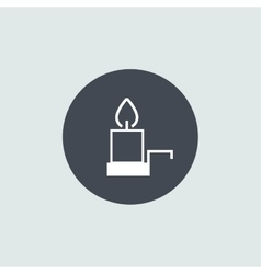Icon Christmas candle for holiday season vector image