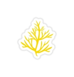 Icon sticker realistic design on paper rosemary vector