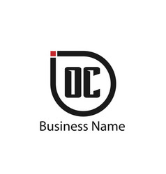 initial letter oc logo template design vector image