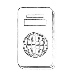 isolated travel passport vector image