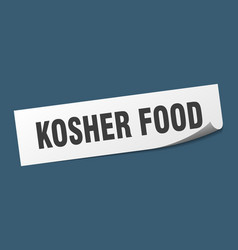 Kosher food sticker kosher food square sign vector