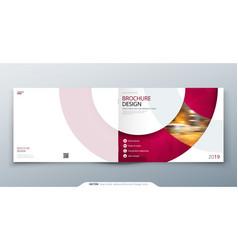Landscape brochure design magenta corporate vector