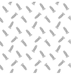 leaning tower pisa seamless pattern hand drawn vector image