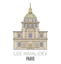 Les Invalides Paris vector image