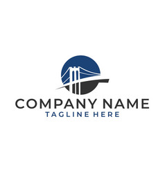 Luxury and modern logo bridge vector