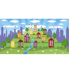 modern metropolis vector image