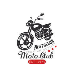 motor club logo premium quality 1979 design vector image