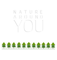 Nature-around-you vector