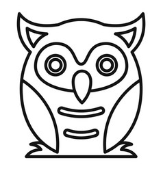 Nature owl icon outline style vector