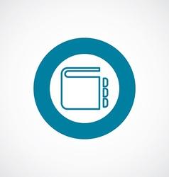 Notepad icon bold blue circle border vector