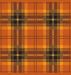 orange tartan plaid seamless pattern vector image