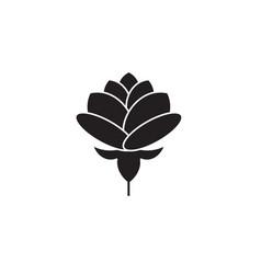 peony black concept icon peony flat vector image