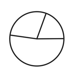 pie chart line black icon vector image