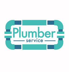 Plumber service isolated icon house plumbing vector