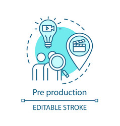 Pre production concept icon vector
