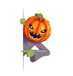 Pumpkin jack lantern cartoon support help vector
