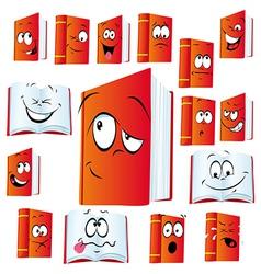 Red book cartoon vector