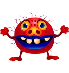red monster vector image