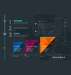 Roadmap set lines arrows timeline vector