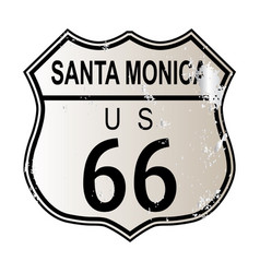 Santa monica route 66 vector