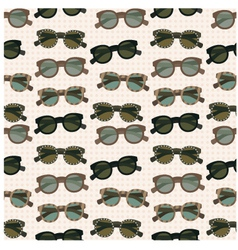 Seamless sunglasses pattern vector image