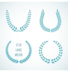 Set laurel wreaths vector