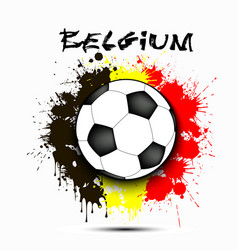 Soccer ball and belgium flag vector