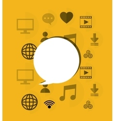 socia media related icons image vector image