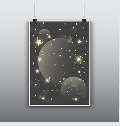 starry poster design vector image