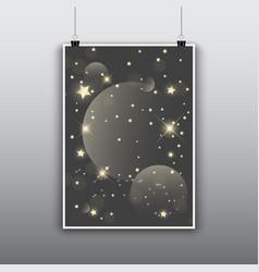 Starry poster design vector