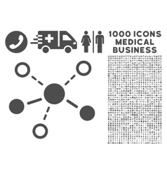 Structure Icon with 1000 Medical Business Symbols vector