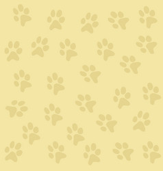 Texture background with paws vector