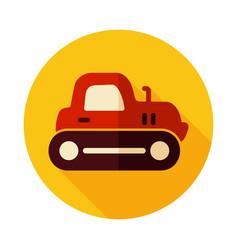 Tractor crawler icon vector